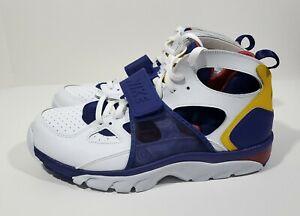 profundo segmento Referéndum  Nike Air Trainer Huarache Retro Mens Training Shoes White Purple Size 11 |  eBay