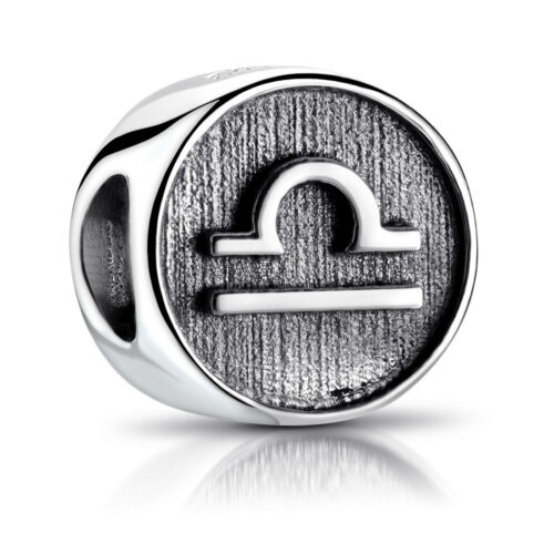 MATERIA Beads Silber 925 Anhänger Sternzeichen Horoskop für Damen Herren Armband