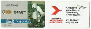 GREECE-GREEK-PHONE-CARD-AUSTRIAN-AIRLINES-04-94-50-000-TIRAGE-USED-RARE