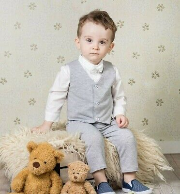Baby Boy Suit Gentleman Navy Outfit Smart Party Birthday Baptism Christmas