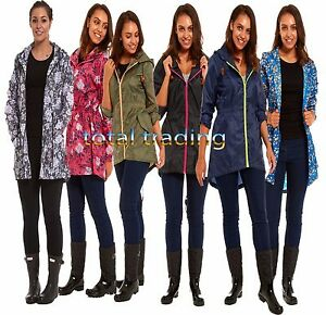 Ladies-Rain-Mac-Coat-Fishtail-Parka-kagool-coat-Jacket-Kagoul-Cagoule