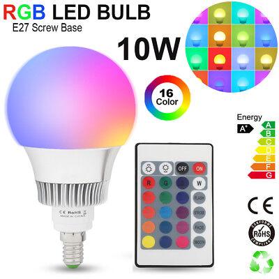 LED Lampe Farbwechsel E27 Farbwechsellampe 3 Watt Remote Fernbedienung RGB 24 T