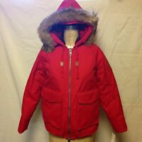 Woolrich Womens Patrol Down Short Parka 15119 Red With Tags