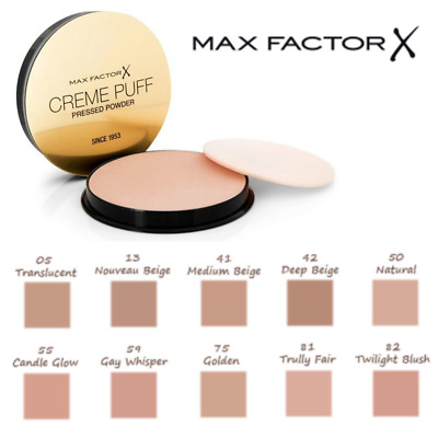 Dejlig MAX FACTOR Creme Puff Compact Pressed Face Powder 21g *CHOOSE YOUR DB-84