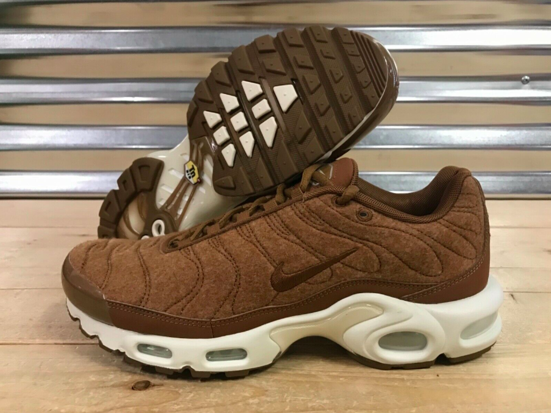 NEW Men's Nike Air Max Plus Quilted Brown Running shoes 806262-200 Size 9