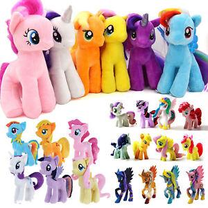 My-Little-Pony-Cavallo-Personaggi-Peluche-Imbottito-Morbido-Orsacchiotto-Bambola