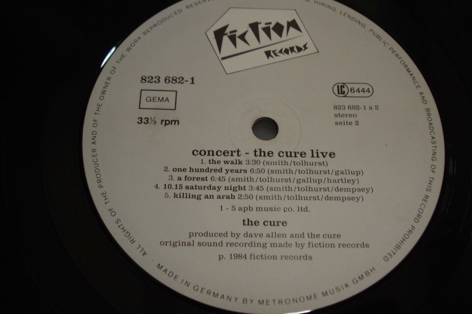 LP, The Cure, Concert The Cure Live