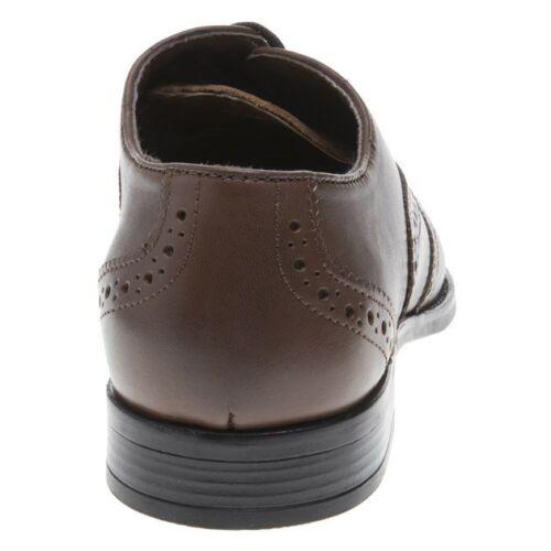 marrone pelle pelle da Nuove con scuro in scarpe laccio color uomo in gAY46nR