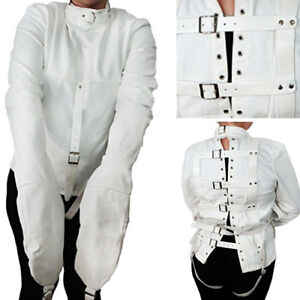 Spooky White Canvas Haunted Straight Jacket Halloween Costume ...