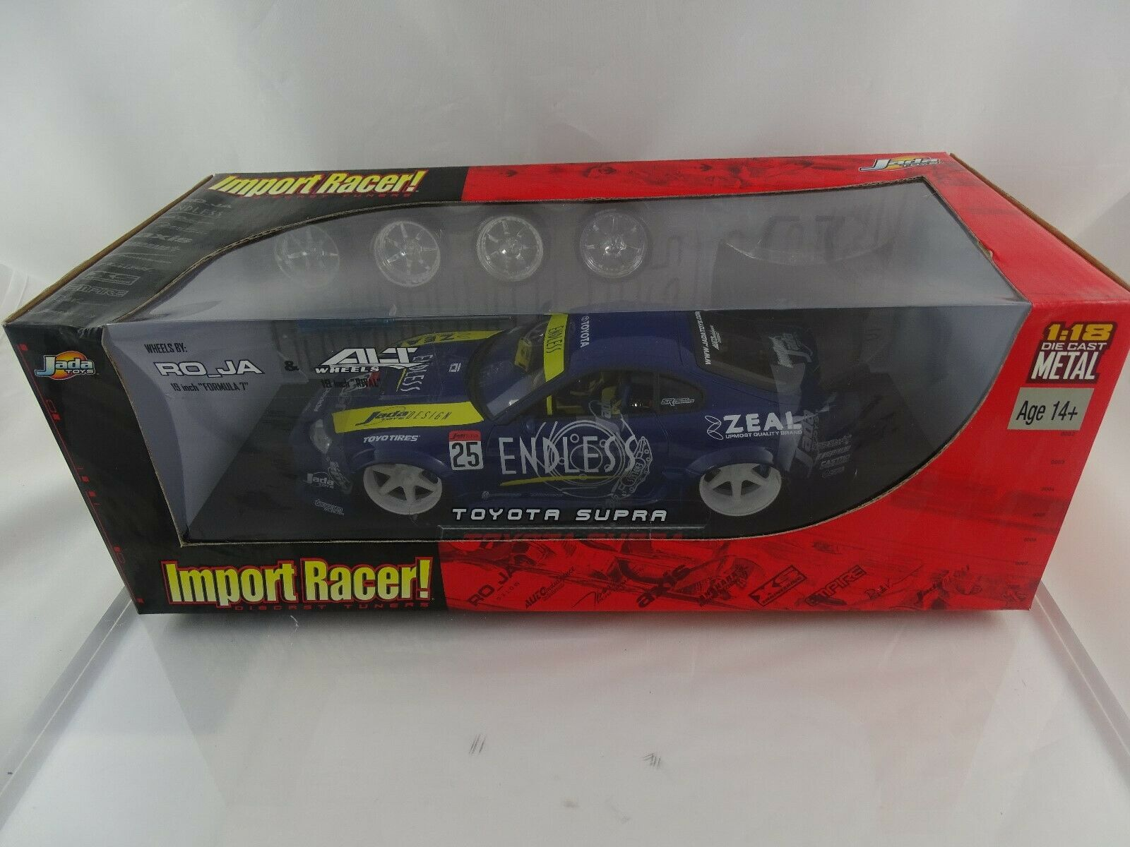 1 18  Jada Import Racer 345-0259 TOYOTA SUPRA Endless  25 + RemplaceHommest Roues Nouveau Neuf dans sa boîte  à vendre