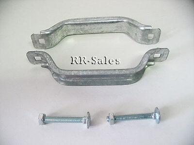 """Garage Door Lift handles W/ hardware Overhead 6 3/8"""" New Pair Galvanized Steel"""