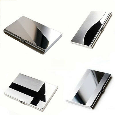 Hot  Stainless Steel Aluminium Business ID Name Credit Card Holder Case for gift