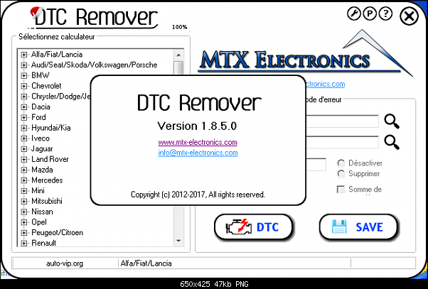 DTC Remover 1.8.5.0 Elimination Clear Remover of DTC errors from ECU v2017