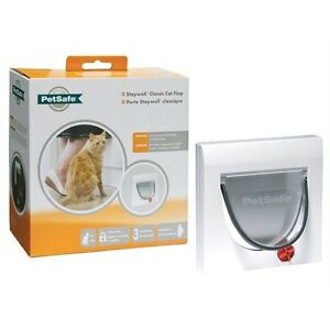 Staywell PetSafe 917 Cat Flap Door 4 Way Locking with Tunnel Upto 60mm Thick