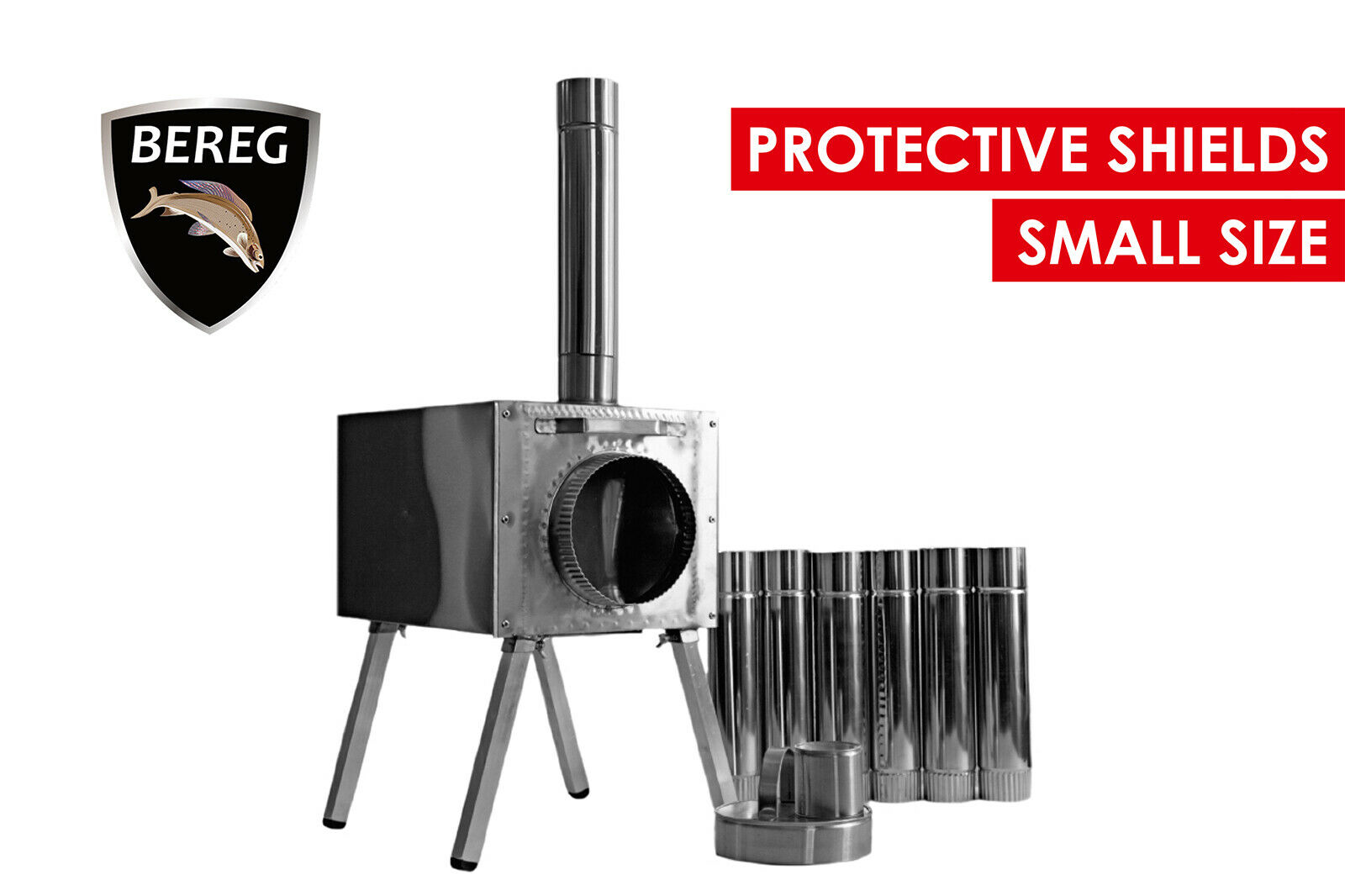 Small Wood Stove  Economical  Bereg for safe camping, fishing and hunting