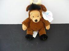 "Disneyland Resort-- Winnie the Pooh-- TAURUS POOH Beanbag Stuffed Toy 9"" Zodiac"