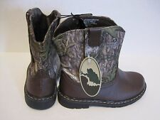 Infant Toddler Mossy Oak Boys Girls Camo Hunting Cowboy Casual Boots Shoes Sz 2