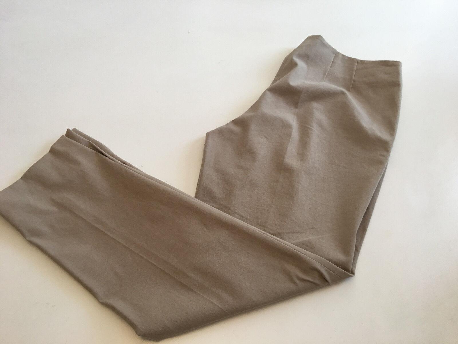 Auth. RIVAMONTI Brunello Cucinelli Cotton Twill Flat Front Slim Pants sz 14