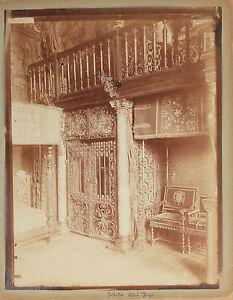 Intérieur d\'un maison bourgeoise Décoration Vintage Albumine ca 1880 ...