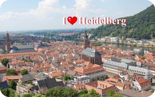 Kühlschrankmagnet Magnetschild Magnet I Love Heidelberg II
