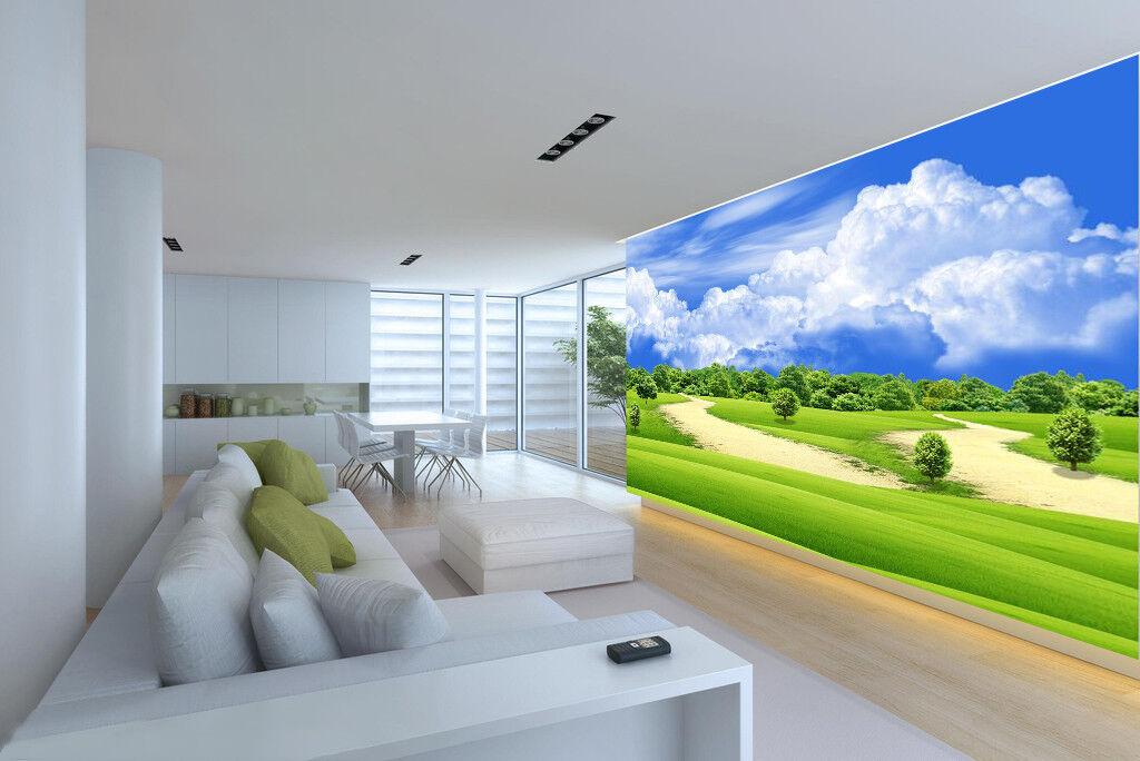 3D Weiß Cloud Woods 7 Wall Paper Murals Wall Print Wall Wallpaper Mural AU Kyra