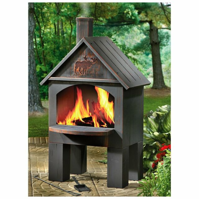 Laser Cut Design Portable Solid Oxidized Steel Wood Burning Fire