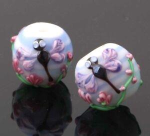 10pcs-handmade-Lampwork-glass-beads-glass-lovely-dragonfly-round-14mm