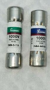 1-FLUKE-DMM-11A-AND-1-FLUKE-DMM-44-100-FUSE-BUSSMANN-FUSES-FOR-MULTIMETER