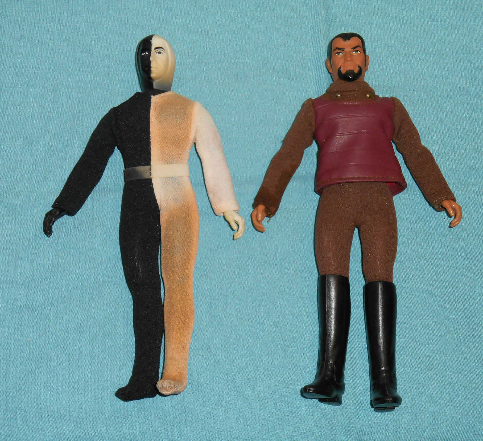 Vintage Mego Star Trek CHERON & KLINGON LOT  2 (Cheron discoloROT,missing Stiefel)