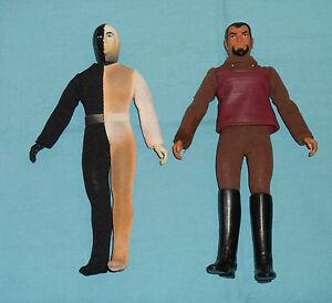Vintage Mego Star Trek Cheron & Klingon Lot n ° 2 (Bottes cheron décolorées, manquantes)