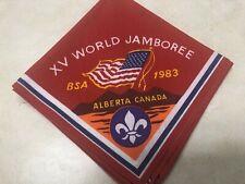 1983 XV World Jamboree collectible pocket patch m4