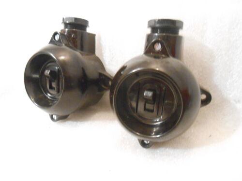 Orig Bakelit Wechselschalter Kipp Licht Schalter Aufputz schwarz Steckdose