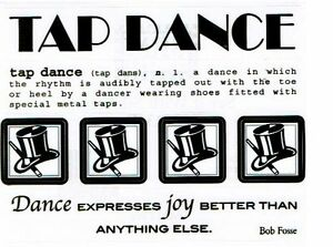 Details about SRM - Tap Dance Scrapbooking Sticker - Word, definition, quote