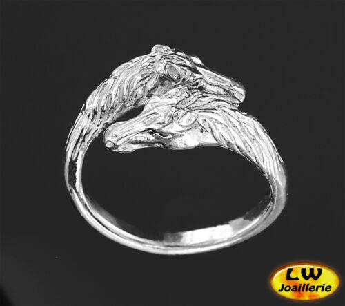 Bague  CHEVAL Ajustable de la Taille 60 à la Taille 68 Ring with HORSE