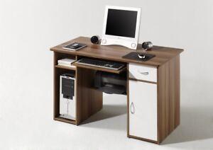 Schreibtisch Computertisch Bürotisch Pc Tisch Micro In Walnuss