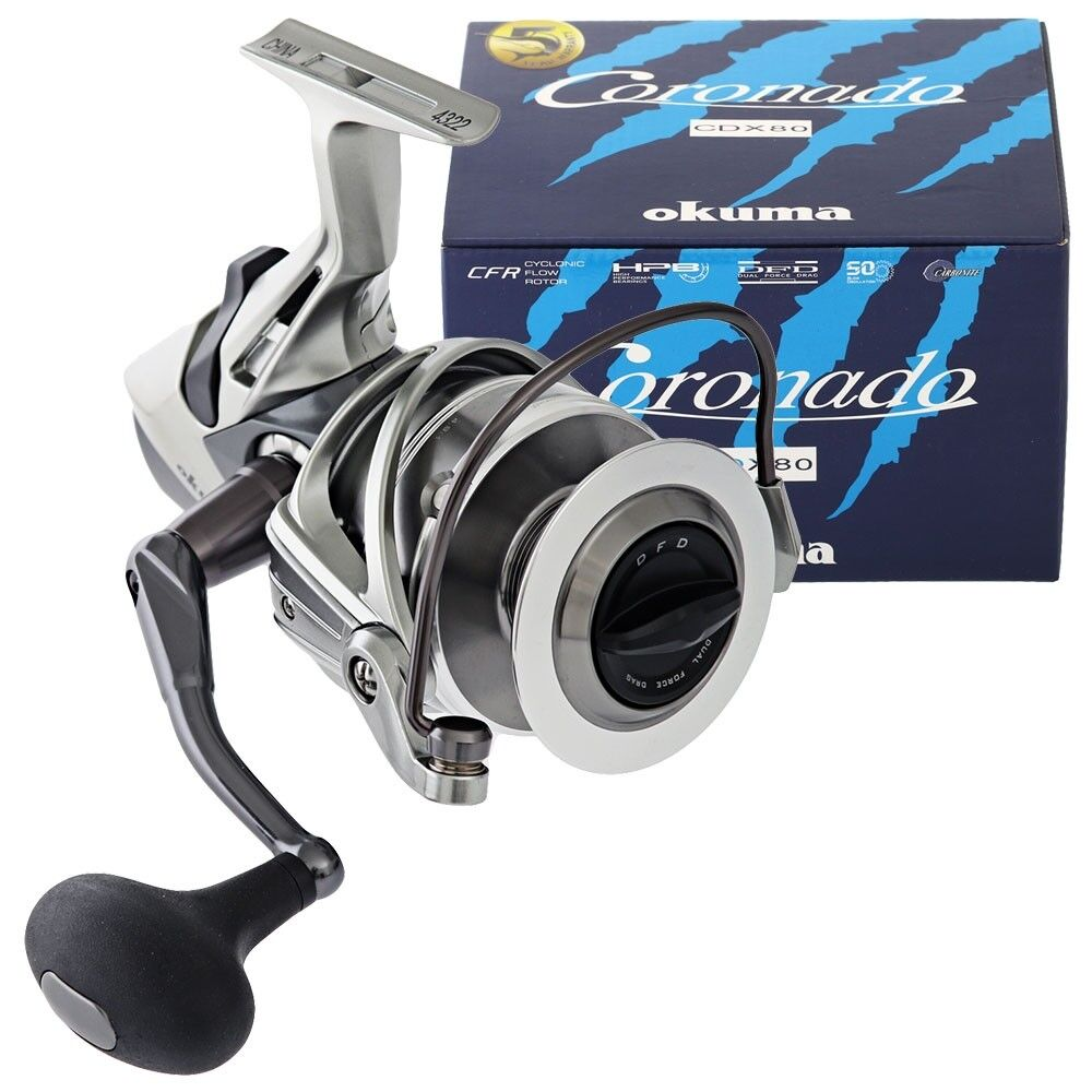 Okuma Coronado CDX Baitfeeder 4.9:1 Reel Spinning Left/Right Hand Fishing Reel 4.9:1 CDX-80 48d9e8