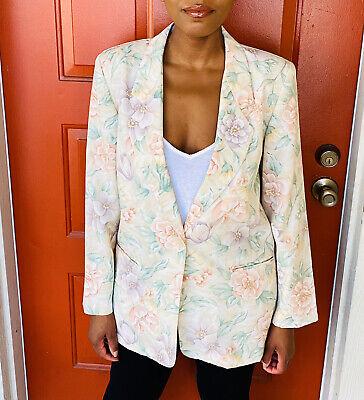 Jaclyn Smith Vtg Floral One Button Blazer Size 10 Ebay