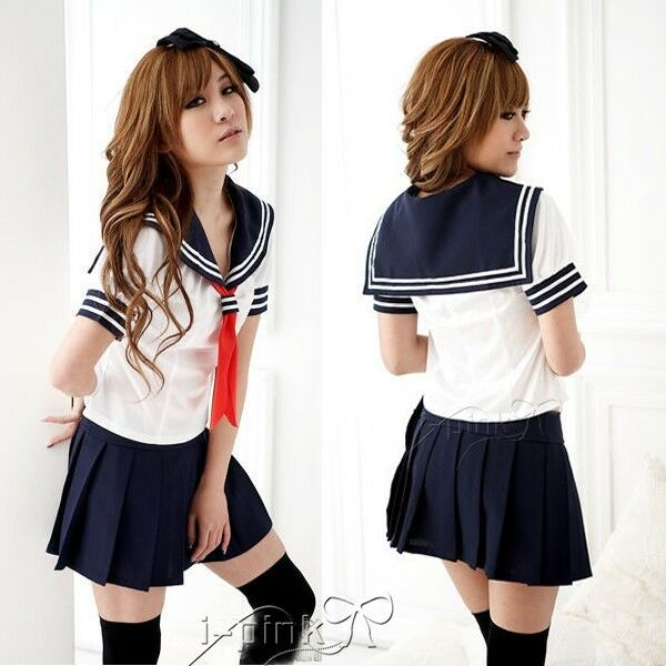 Sexy Japan adult School Girl cosplay halloween costume women fancy uniform dress