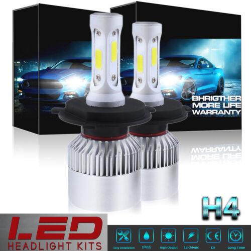 2x H4 9003 HB2 1400W 210000LM COB LED Headlight Bulbs Kit Hi//Lo Beam 6000K White