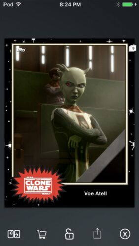 Topps Star Wars Digital Card Trader Black Voe Atell Base 4 Variant