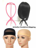 1 Wig Stand Hair Hat Holder &stock Or Mesh Wig Cap Nylon Stretch Black Pink Nude