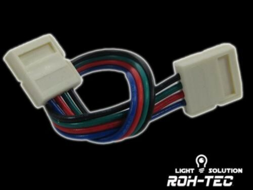 10mm RGB//LED Streifen//Stripes ohne löten 12cm Kabel 4-Pin Klapp-Verbinder