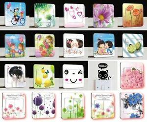Lichtschalter-Wandsticker-Aufkleber-WandTattoo-Blumen-Kinder-Natur-Motiv