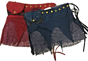 Ladies-Wrap-Mini-Pixie-Festival-Skirt-3-Pockets-Size-6-to-12