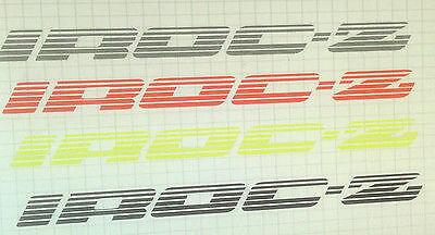 SET OF 2  CAMARO Z 28 1985-1990 IROC Z DOOR DECALS