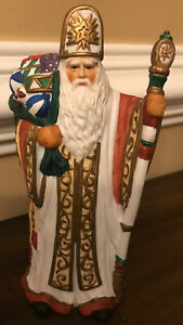 Santa Claus Figure Holiday Christmas Ceramic Collectible