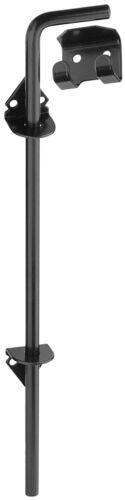 """National V835 Black 1//2/"""" X 18/"""" Adjustable Throw Gate Door Cane Bolt"""