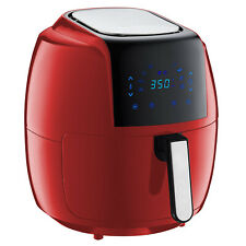 GoWISE USA 7 Quart 1700 Watts 8-in-1 Programmable Digital Air Fryer, Chilli Red