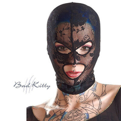 Health Care Purposeful Maschera Elastica Di Pizzo Nero Donna Bad Kitty Black Elastic Lace Mask Woman Diversified Latest Designs Sexual Wellness