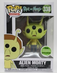 Funko Pop! Rick and Morty #338 2018 Spring Conve. Exc Alien Morty + Protector